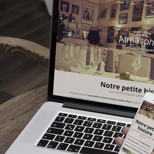 Site internet pour le restaurant Atmosphère Toulouse