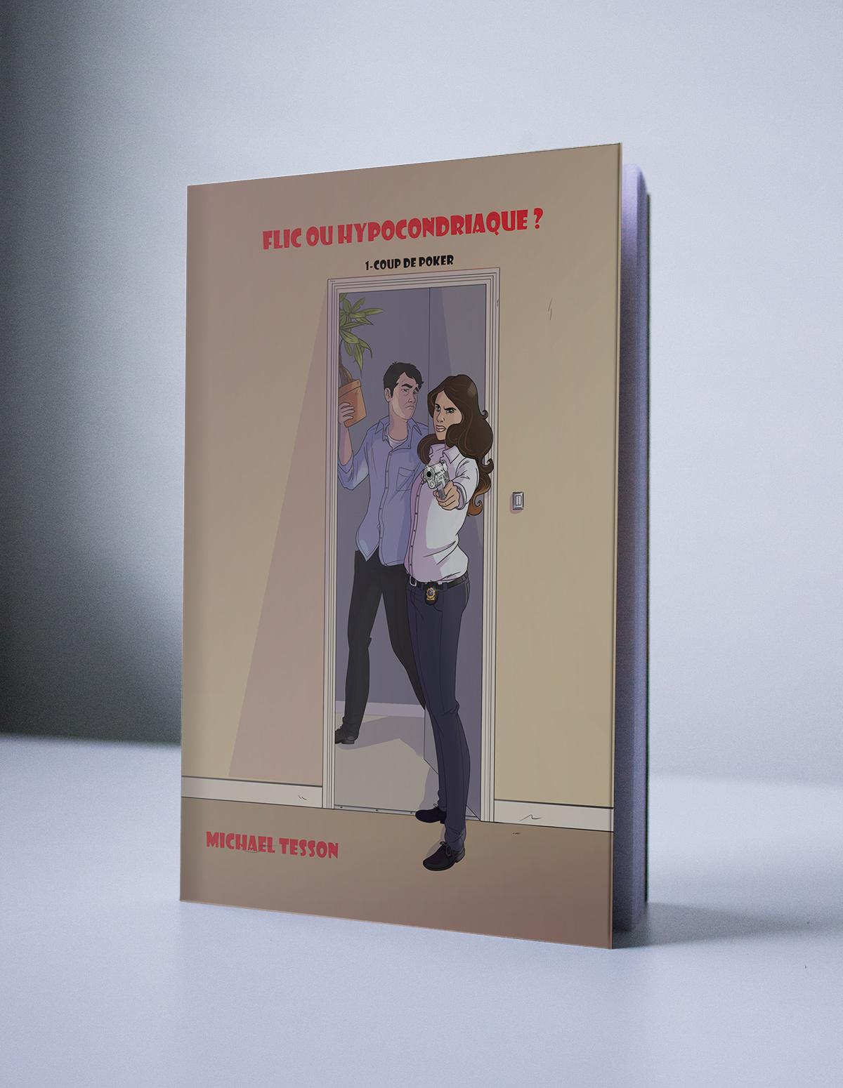 Illustration pour la couverture d'un roman policier