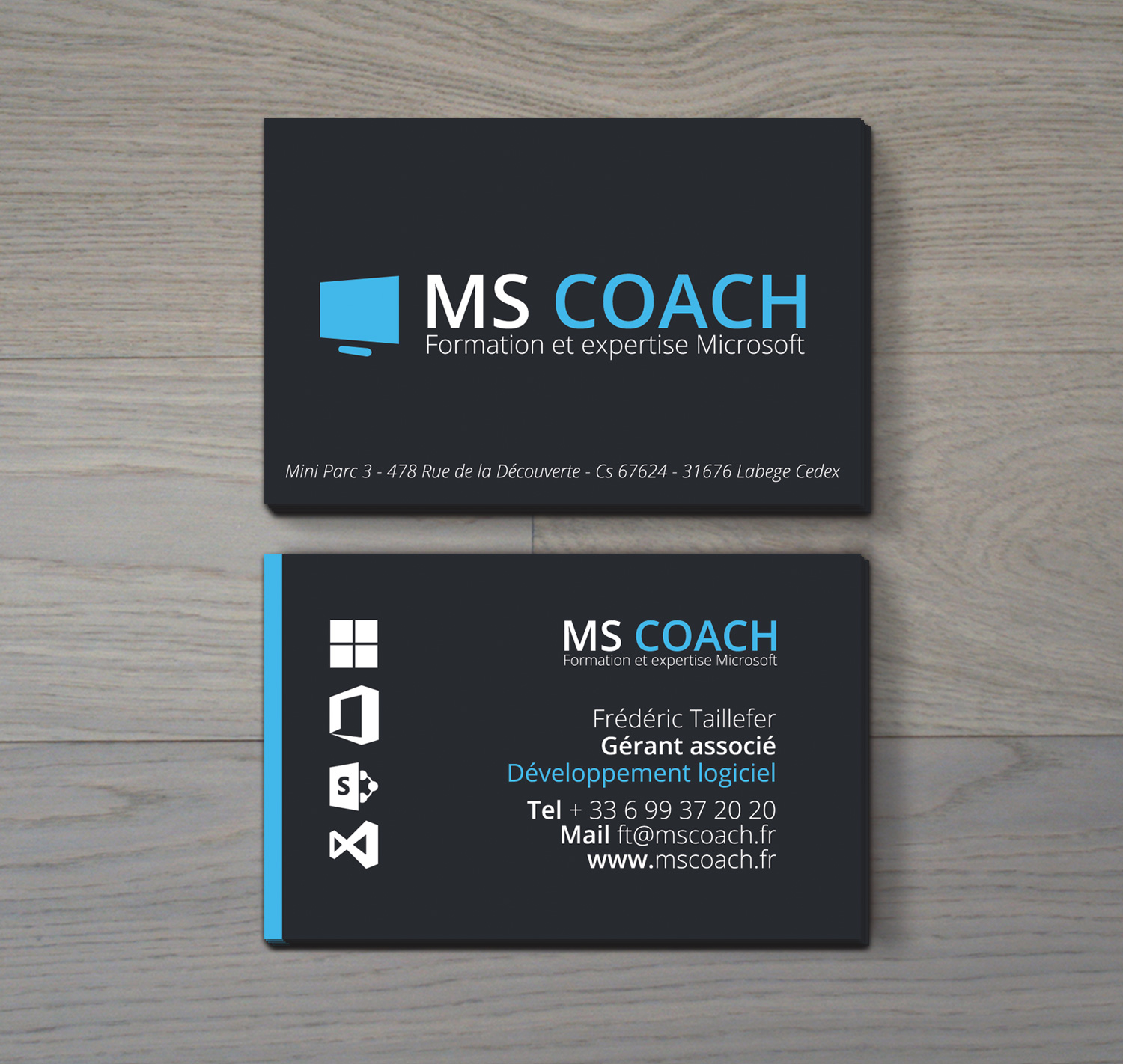 MS Coach carte de visite