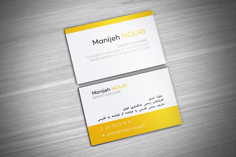Carte De Visite Manijeh Nouri